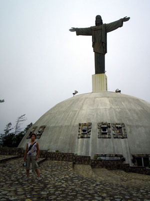 Jesus statue on top of mountain in Puerta Plata