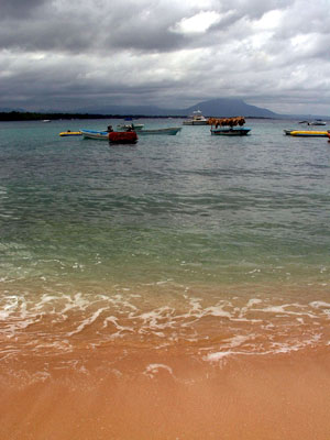 Sosua beach boats