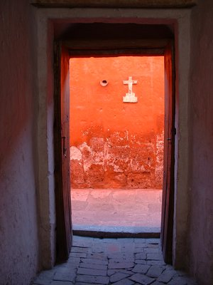 Doorway at Santa Cantalina Convent in Arequipa