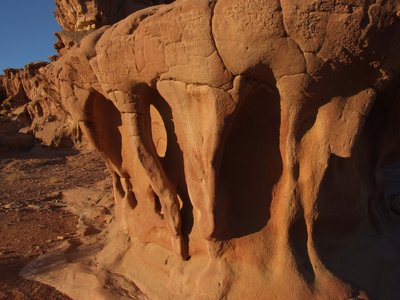 Beautiful sandstone structure in Wadi Rum