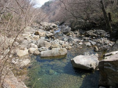 Boulders along river streams in Seoraksan National Park East