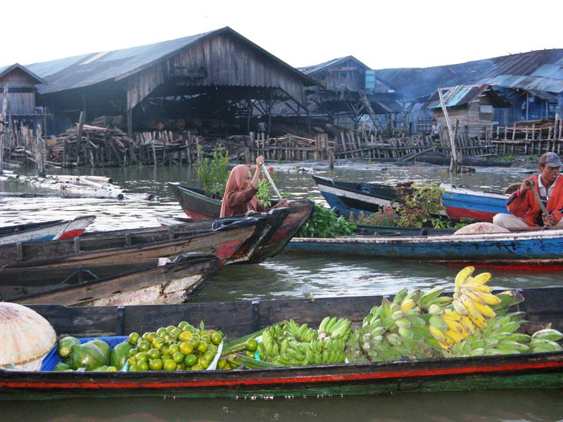 Floating Market in Banjamasin