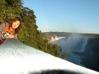 Making use of self-timer at Iguazu Fall