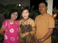 Posing with my Javanese costume makers