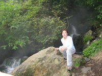 Hot Waterfall at Gunung Gede