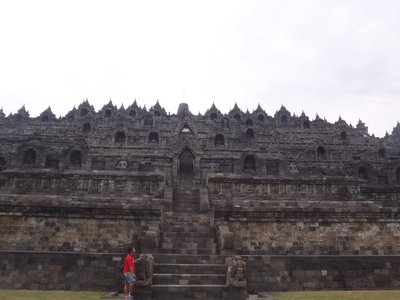 at the bottom of Borobudur