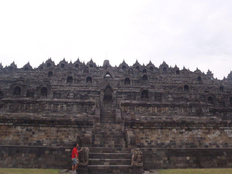 at the bottom of Borobudur