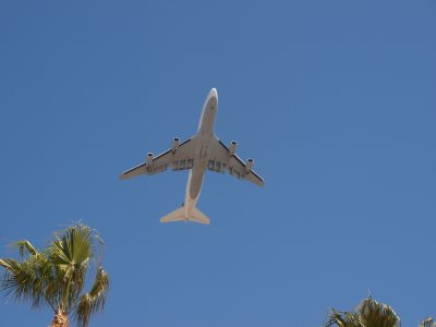 Under the LAX flight path
