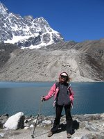 on the Gokyo lake
