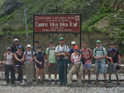 Rhi, Koz, Alex, Hilary, Evan, Jamie, Mike, Matt, Miles, Jen, Dan, Derek and Rick - ready for adventure!