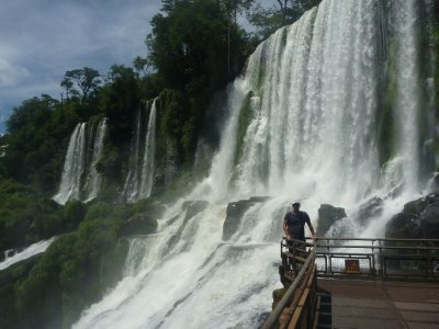 Koz at the Lower Falls in Argentina
