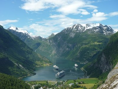 Looking down on Geirangerfjord