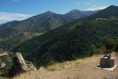 Rest stop in the Pyrenees National Park in France