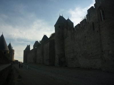 The town has two city walls, as well as a fortress in the centre