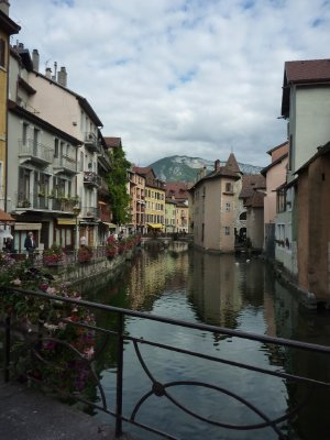 The pretty town of Annecy where we enjoyed afternoon tea on our way into Switzerland!