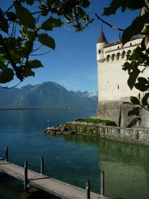 Château de Chillon on the east side of Lake Geneva