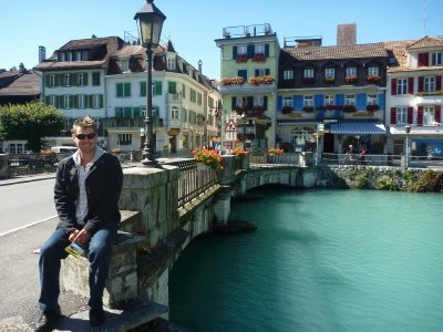 The postcard town of Interlaken