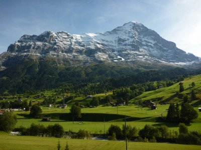Snow capped mountains in the Jungfrau region