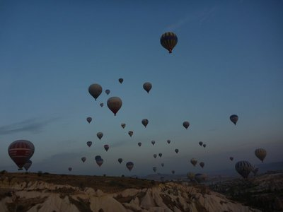 Sunrise ballooning in Goreme, Turkey