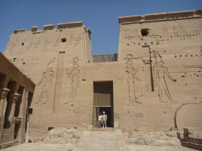 The entrance to the Temple of Isis, Philae Island