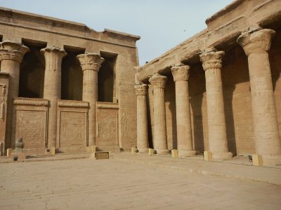 Thanks to the sand that sheltered it for years, Edfu is in pretty good condition