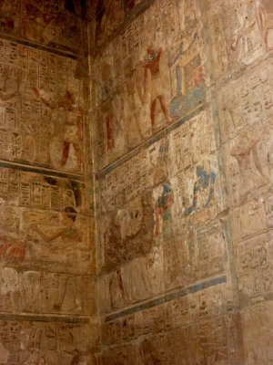 Wall motifs in Luxor temple