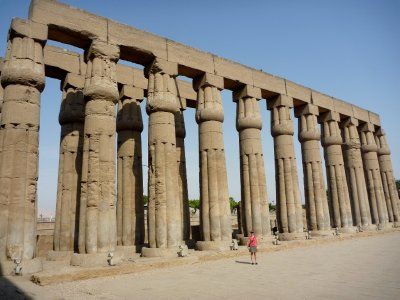 If all the columns were still standing we estimated there would have been at least 200 in Luxor temple alone