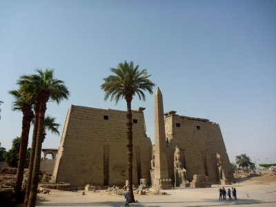 The memorable Luxor temple - and we almost had it to ourselves early in the day