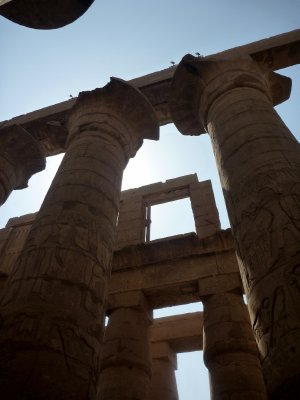 The columns of the main hall of Karnak