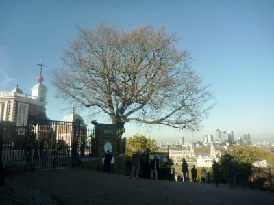 London City viewed from the Royal Observatory at Greenwich
