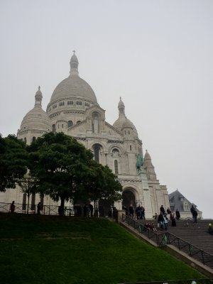 The Sacre Coeur - one of the best views of Paris from up here, if you get a clear day
