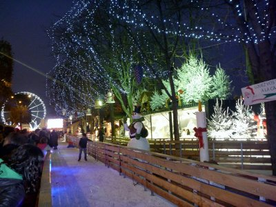 Winter wonderland on the Champs Elysees