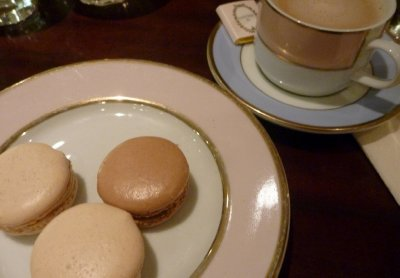 Coffee and macaroons at a Laduree Tea House