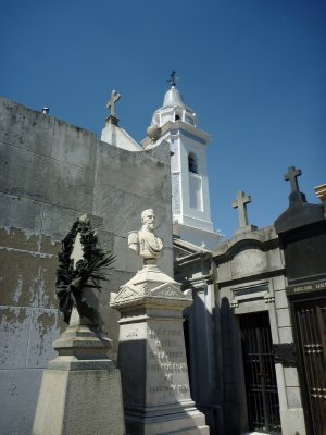 The hauntingly beautiful Recoleta Cemetery, resting place of Eva Peron