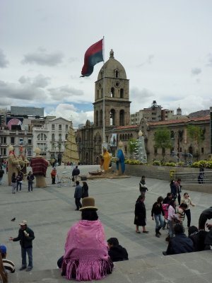 The main square of La Paz