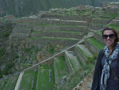 Exploring Inca ruins in the Sacred Valley