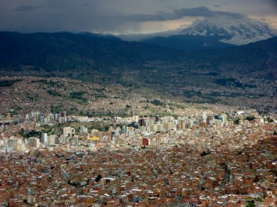The sprawling city of La Paz