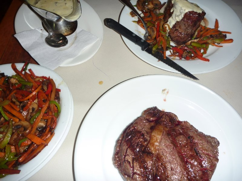 Awesome steaks at El Gaucho in Vina del Mar