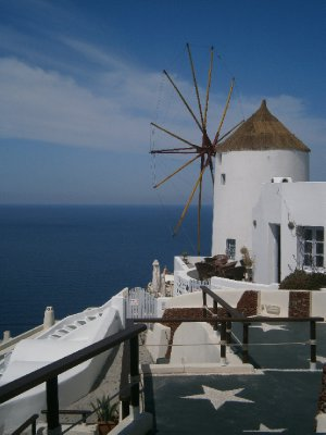 Windmills of Oia