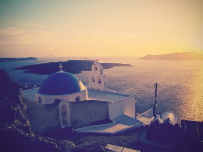 Sunset over Thira
