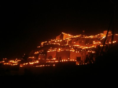 Village of Pyrgos at Easter