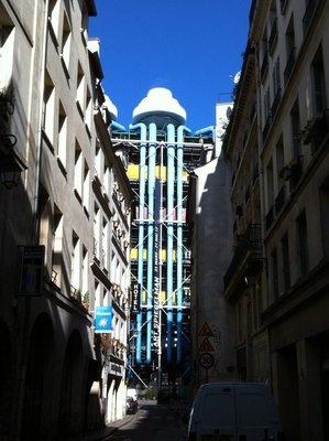 Vue sur Beaubourg