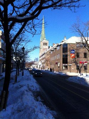 Rue Saint-Charles en hiver