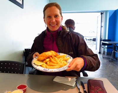 Awesome Fish (Snapper) & Chips at Clevedon Seafoods