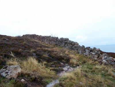 Stone wall of Badbea village
