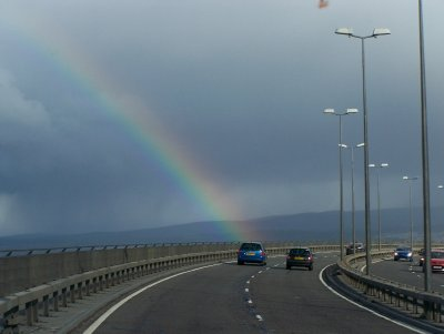 Rainbow over Inverness Bridge