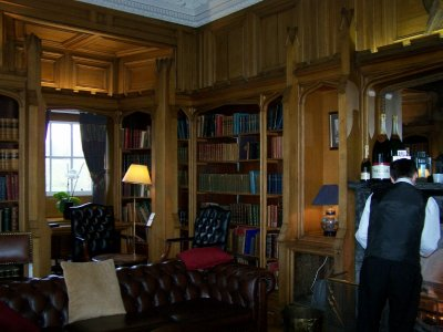 The library Dalhousie Castle