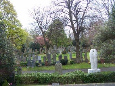 Weeping angel in Dean cemetery
