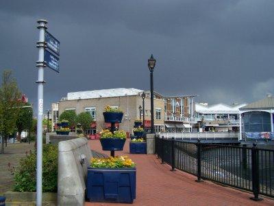 Storm over Mermaid Quay