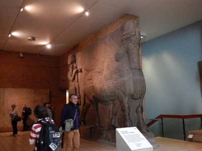 winged, human headed lion - Assyrian 860-865 BC
